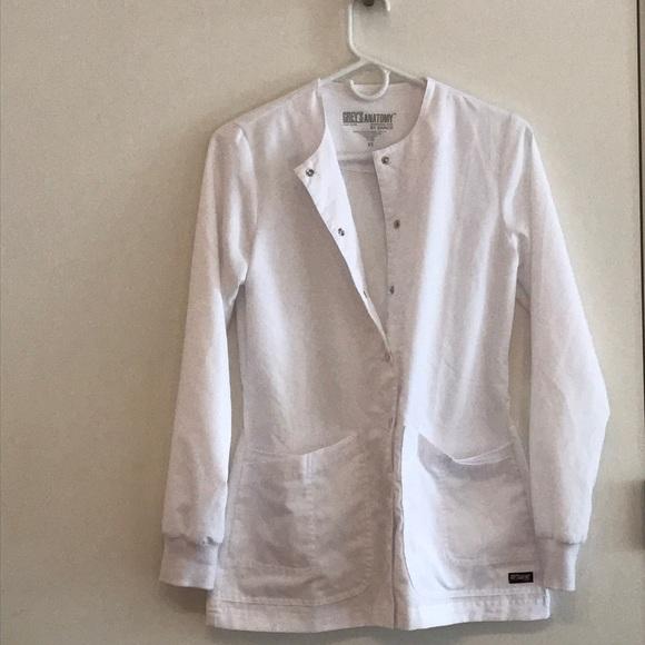 Grey\'s Anatomy Other | Greys Anatomy 4 Pocket Scrub Jacketlab Coat ...